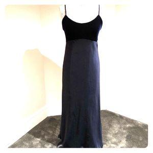 Vintage velvet chiffon gown 90s
